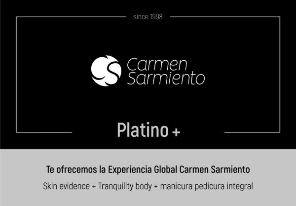 Tarjeta regalo Platino Plus tienda online de Carmen Sarmiento en Sevilla. Centro de Medicina Estética Facial y Corporal. Primer Centro Oficial Coolsculpting